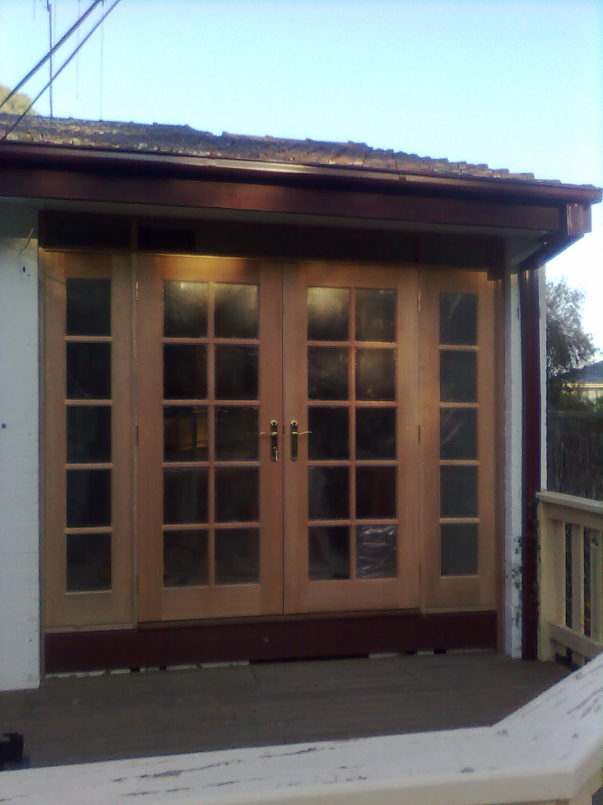 French door and side light