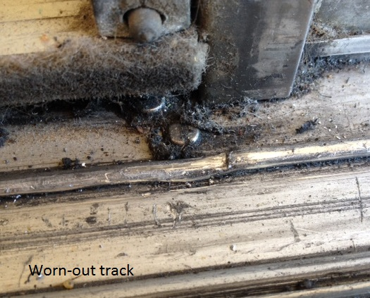Worn-out track